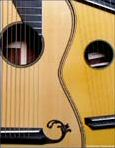 Steel String Arch Harp Guitar - Front - close