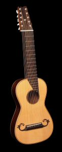 Steel String Arch Harp Guitar - Front without harp
