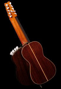 Steel String Arch Harp Guitar - Back