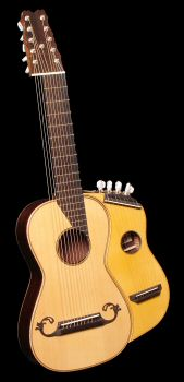 Steel String Arch Harp Guitar - Front